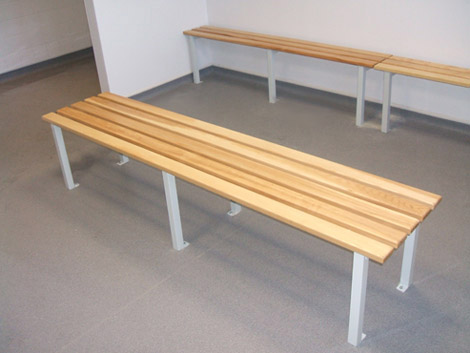 Floor fixed bench
