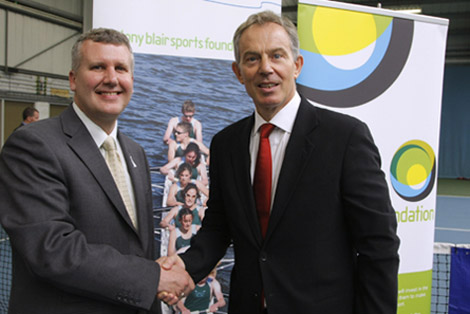 Keith and Tony Blair